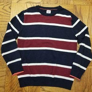 Boy's EUC Gap Cotton Striped Navy & Red Sweater